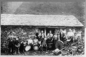 Bild mit Bauernfamilie