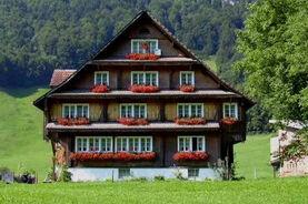 Bild eines typischen Bauernhauses