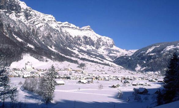 Winterbild von Muotathal