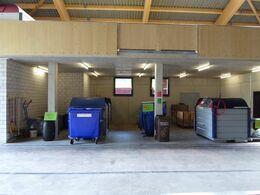 Bild  Bereiche in Entsorgungshalle